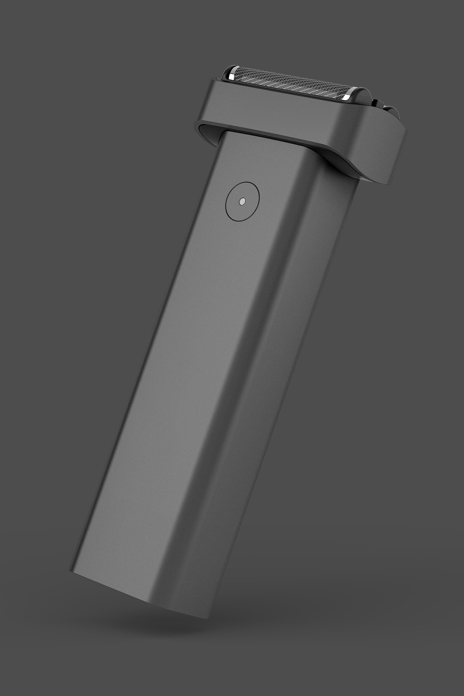 Perspective view of Extrusion Shaver in Black.