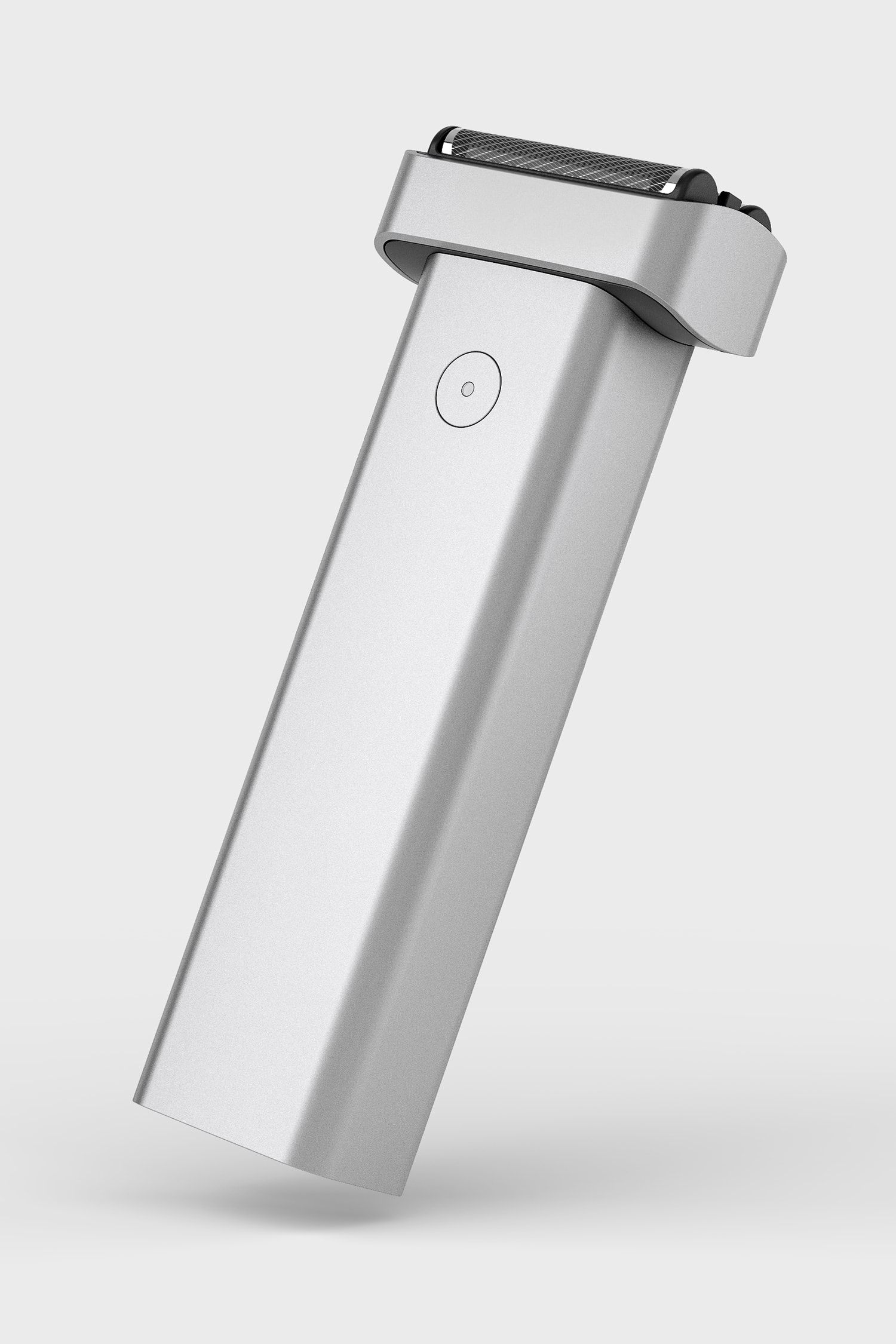 Perspective view of Extrusion Shaver in Silver.