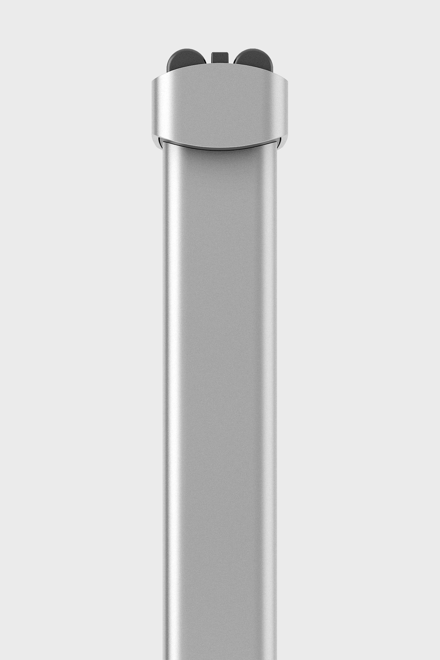 Side view of the Extrusion shaver, shown in the silver colourway.