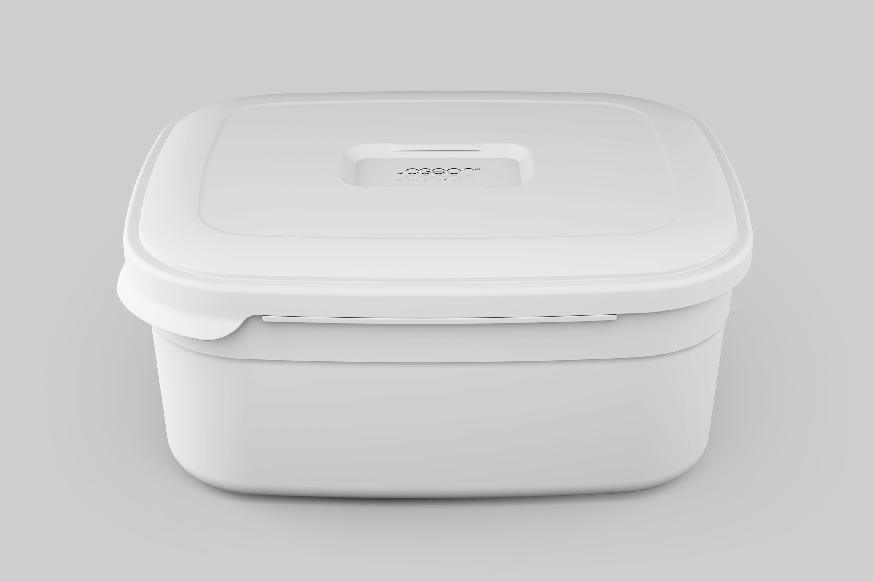 Front view of the JosephJoseph box, greyscale render.