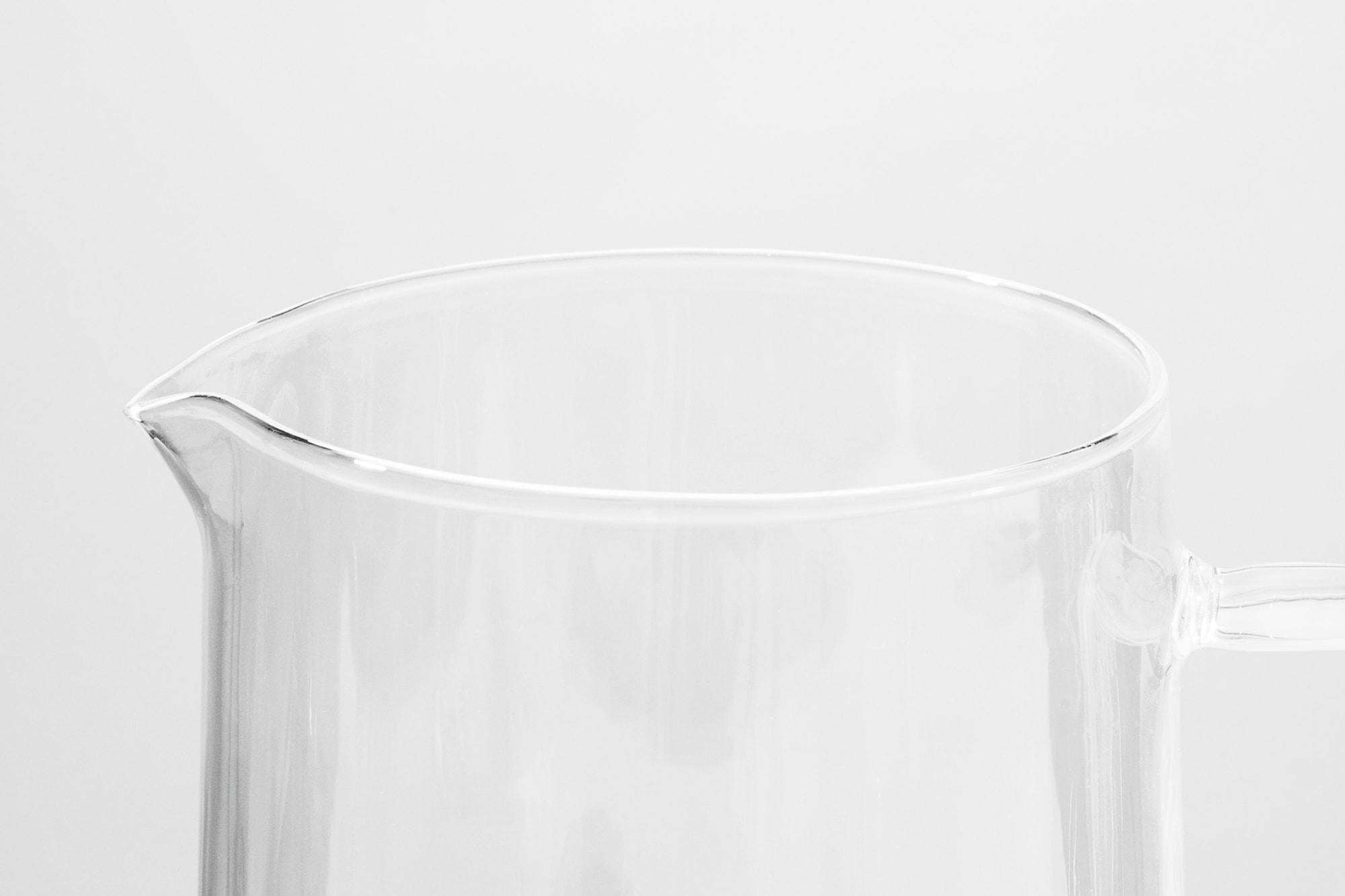 Close up view of the top of the Rivington Glassware jug