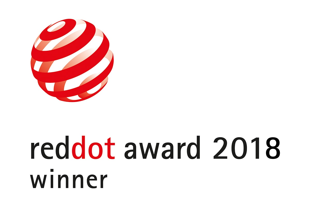 Red Dot Award 2018 winner and logo