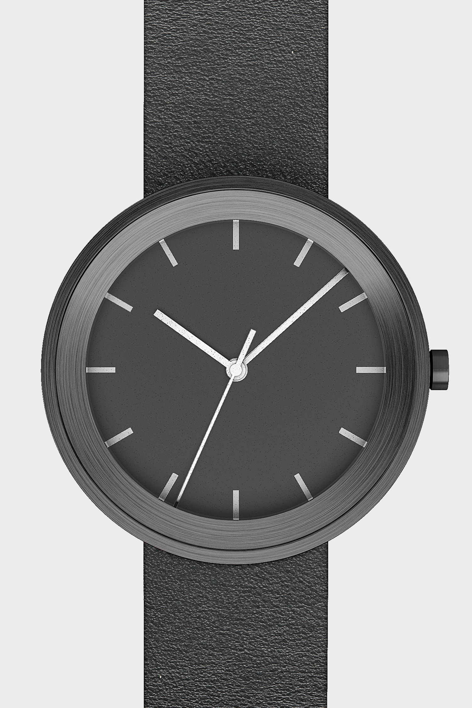 Front view of Hide Watch in black.